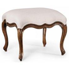 Medium French Provincial Walnut Footstool