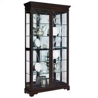 Etched Two Door 5 Shelf Curio Cabinet in Sable Brown Product Image