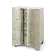 Bardot 3-Drawer Side Table, Sage Green