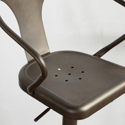Astra Adjustable Stool in Gunmetal