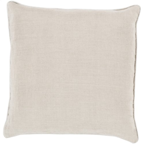 """Linen Piped LP-008 22"""" x 22"""" Pillow Shell with Polyester Insert"""