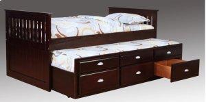 Logan Twin Captain's Bed - Merlot