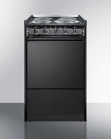 "20"" Wide Slide-in Electric Range In Black With Lower Storage Compartment; Replaces Tem115r/tem110crt"