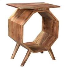Bengal Manor Acacia Wood Octagon Accent Table