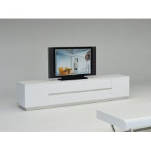 A&X Skyline Modern White Crocodile TV Entertainment Center
