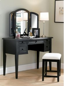 """""""Antique Black"""" with Sand Through Terra Cotta Vanity, Mirror & Bench"""