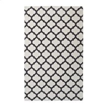 Lida Moroccan Trellis 5x8 Area Rug in Ivory and Charcoal