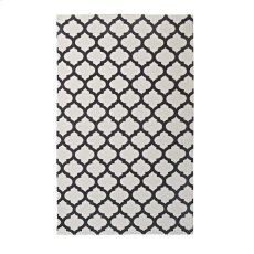Lida Moroccan Trellis 5x8 Area Rug in Ivory and Charcoal Product Image