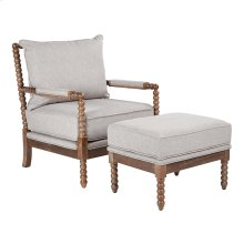 Louis Chair and Ottoman Set