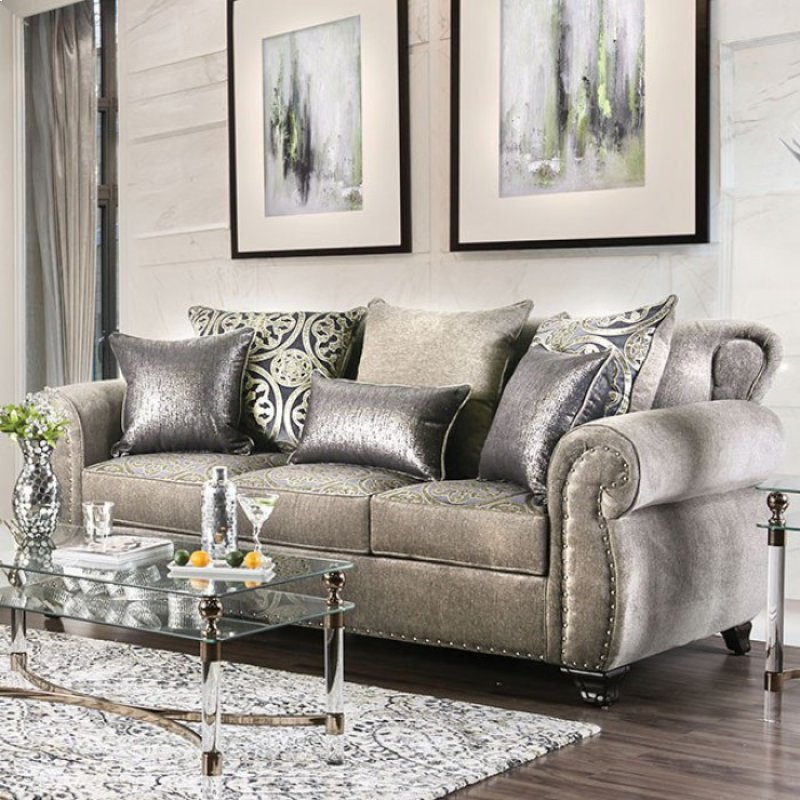 Sm6153sf In By Furniture Of America In Waterbury Ct Sinatra Sofa