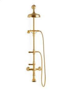 Satin Brass Harrison Lever Exposed Shower Set