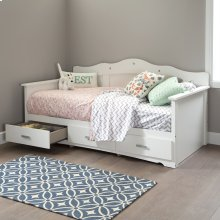 Daybed with Storage - Pure White