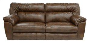 Power Extra Wide Recl Sofa - Chestnut