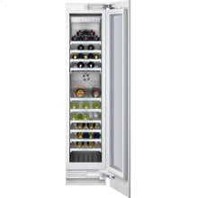 "Vario wine climate cabinet 400 series RW 414 760 fully integrated, with glass door Niche width 18"" (45.7 cm), Niche height 84"" (213.4 cm)"