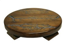 """20"""" Round Lazy Susan W/Turquoise Inlay on Top"""