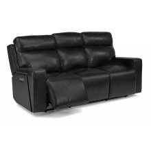 Niko Leather Power Reclining Sofa with Power Headrests