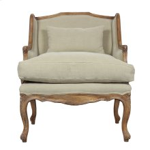 Elliot Salon Chair, Desert Fabric