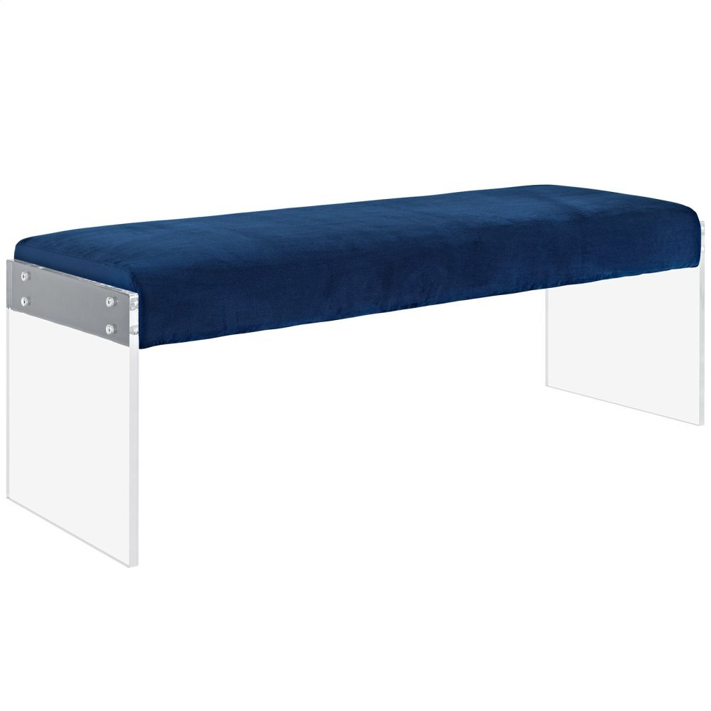 Roam Performance Velvet Bench in Navy