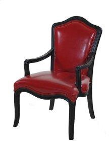 Diablo Lipstick Red Bi Cast leather Chair
