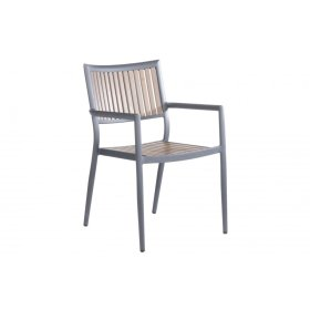 Penelope Alum. / Polywood Stackable Dining Arm Chair