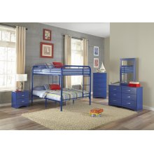 Royal Blue Full/Full Bunkbed