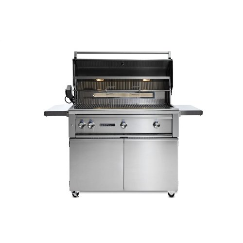 """42"""" Sedona by Lynx Freestanding Grill with 2 Stainless Steel Burners and ProSear Burner and Rotisserie, LP"""