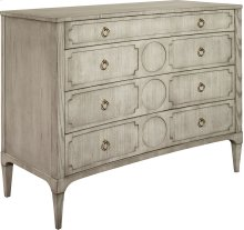 Artisan Curved Front Chest w/Drawer Overlay - Ash