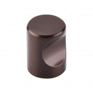 Nouveau Indent Knob 3/4 Inch - Oil Rubbed Bronze
