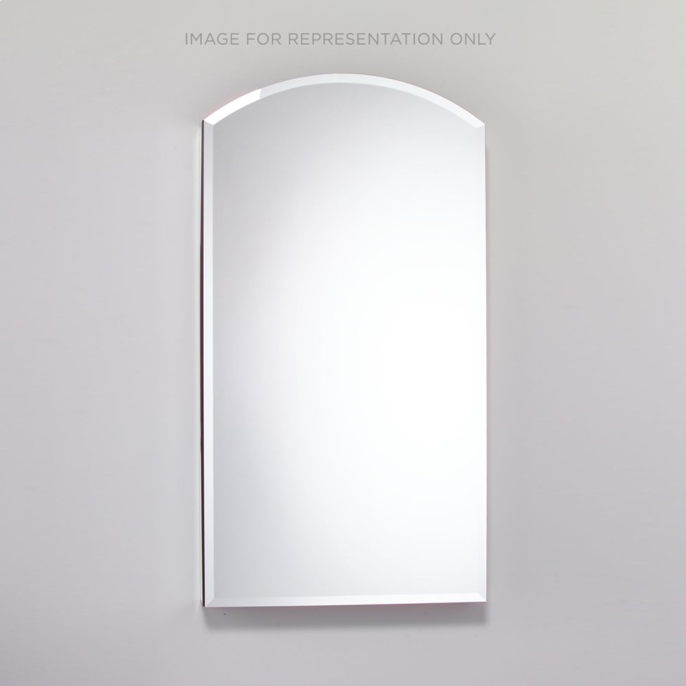 """Pl Series 23-1/4"""" X 34"""" X 4"""" Arch Top Cabinet With Bevel Edge, Right Hinge, Black Interior and Non-electric"""
