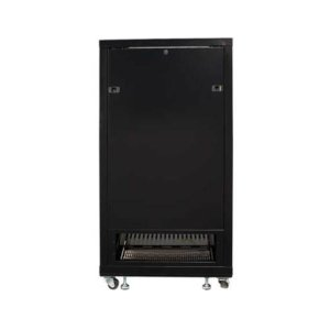 "Black 55"" Tall AV Rack 27U Component rack for home theater equipment"