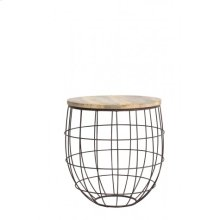 Side table 58x61 cm DIVAN rust-wood