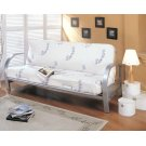 Transitional Silver Futon Frame Product Image