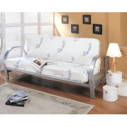 Transitional Silver Futon Frame