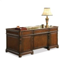 Bristol Court Executive Desk Cognac Cherry finish