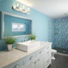 Bluebell Rectangular Above-counter Vitreous China Bathroom Sink