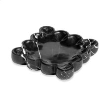 Bliss Square Scalloped Tray - Black