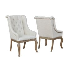 Glen Cove Traditional Cream Arm Chair