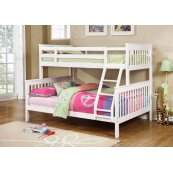 Chapman Transitional White Twin-over-full Bunk Bed