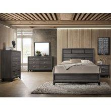 Crown Mark B4620 Akerson Grey King Bedroom