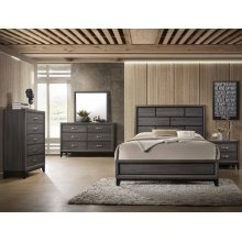Crown Mark B4620 Akerson Grey King Bedroom