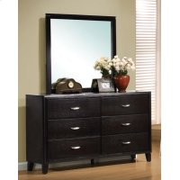 Nacey Dark Brown Dresser Mirror Product Image