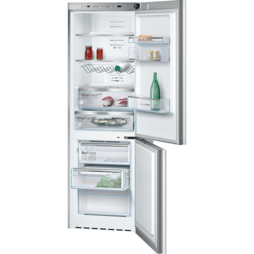 "24"" Glass Door Counter-Depth Bottom Freezer B10CB80NVW 800 Series - White Glass (Scratch & Dent)"