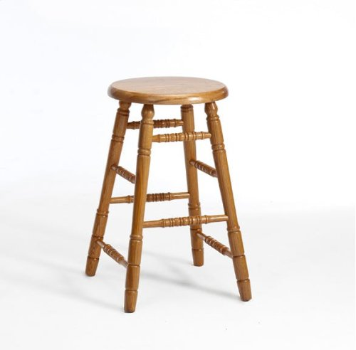 Dining - Classic Oak Backless Counter Stool