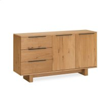 Waxed Oak Small Sideboard Wooden Base
