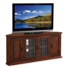 "Oak Leaded Glass 56"" TV Stand #80386"