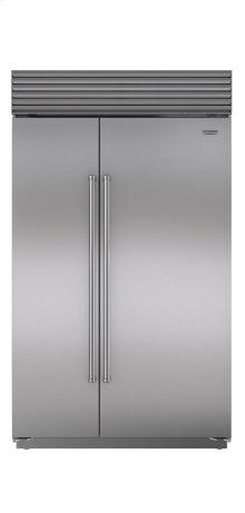 "48"" Built-In Side-by-Side Refrigerator/Freezer with Internal Dispenser"
