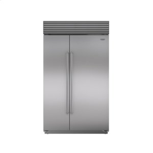 "Subzero48"" Built-In Side-by-Side Refrigerator/Freezer with Internal Dispenser"
