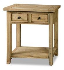 Tuscan Retreat® 2 Drawer Hall Table - Light Weatherd Pine