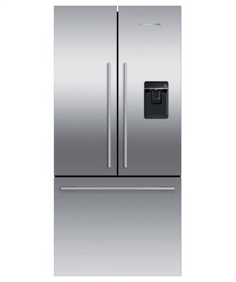 """Freestanding French Door Refrigerator Freezer, 32"""", 17 cu ft, Ice & Water"""