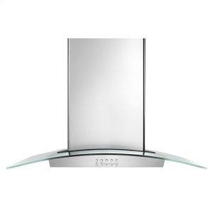 "Amana36"" Modern Glass Island Mount Range Hood - stainless steel"